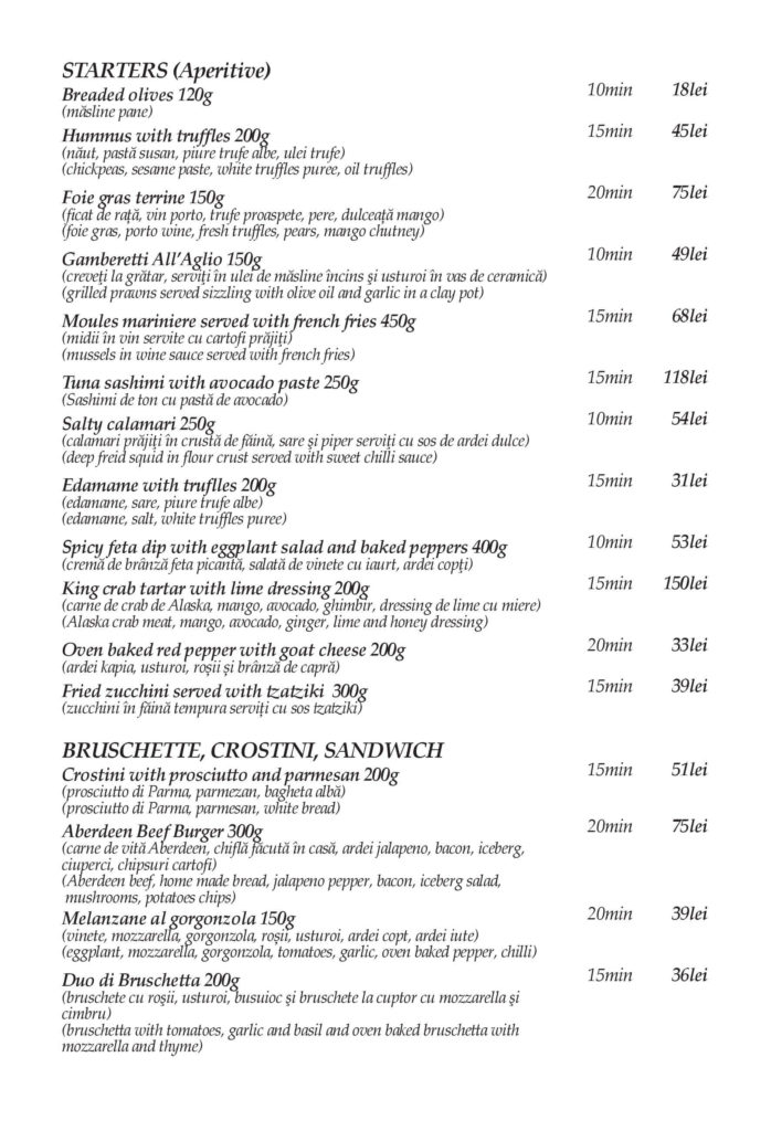 Food Delivery Menu - Page 1